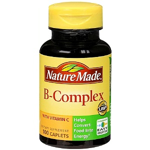 Vitamin B complex bottle