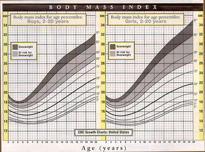 BMI Chart for Children | New Health Advisor
