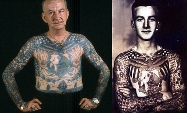 Old people with different tattoos with pictures new for Tattoos for older adults