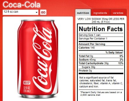 Coca-Cola Nutrition Facts | New Health Advisor