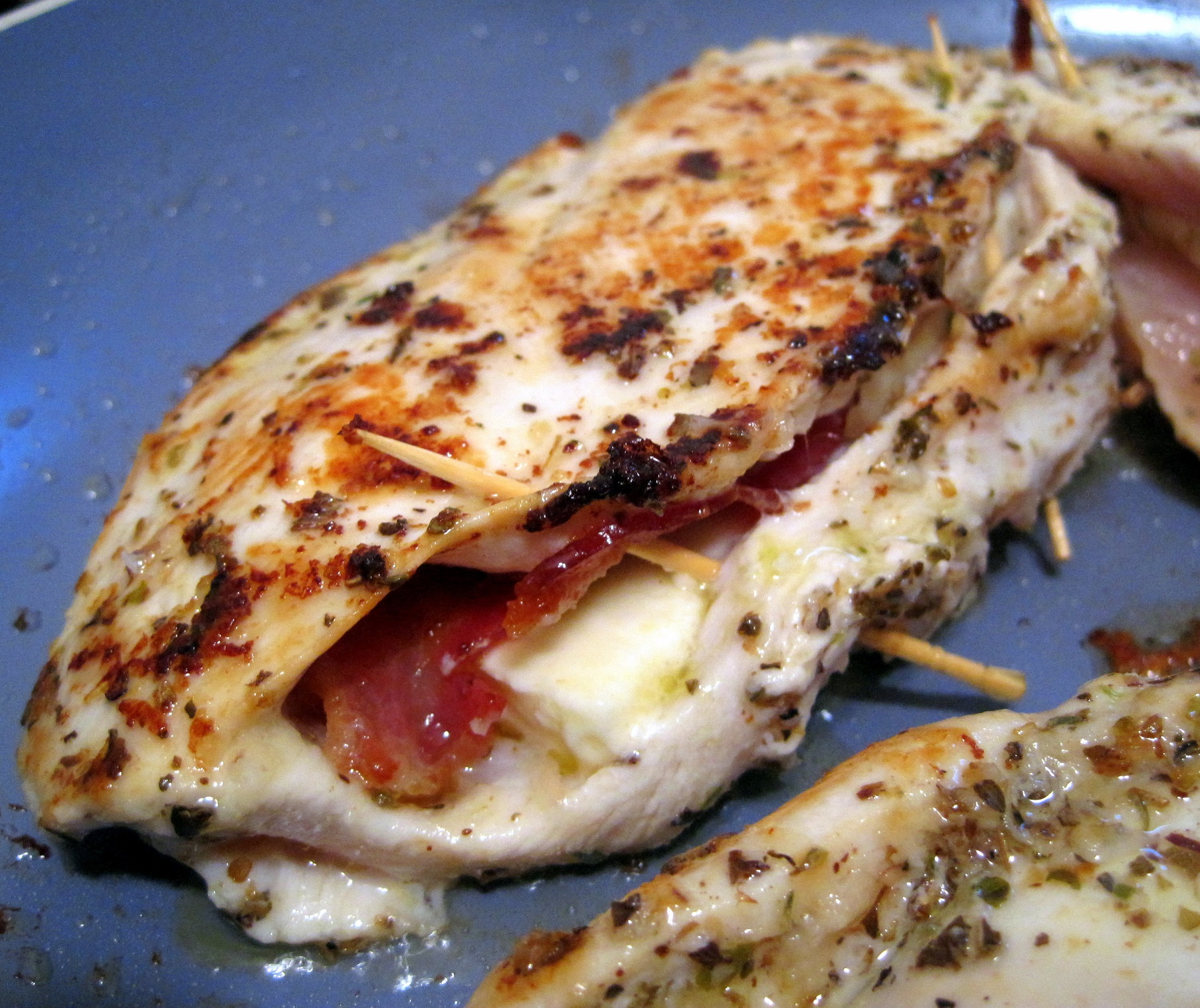 Feta Cheese And Bacon Stuffed Breasts Recipe — Dishmaps