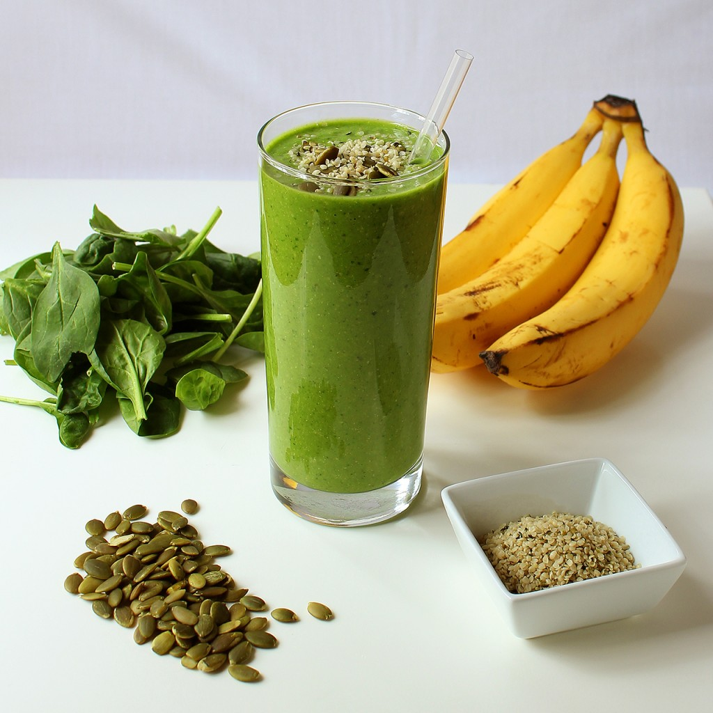 Protein shake and foods