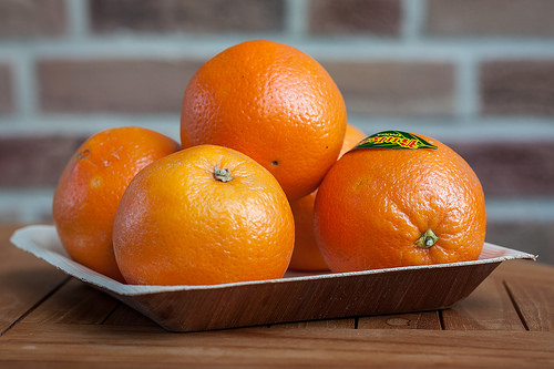 Oranges on Tray