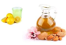 lemon juice and almond oil