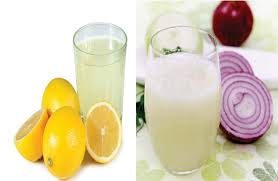 lemon juice and onion pack