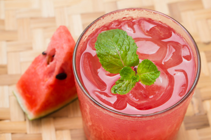 Watermelon and mint cooler